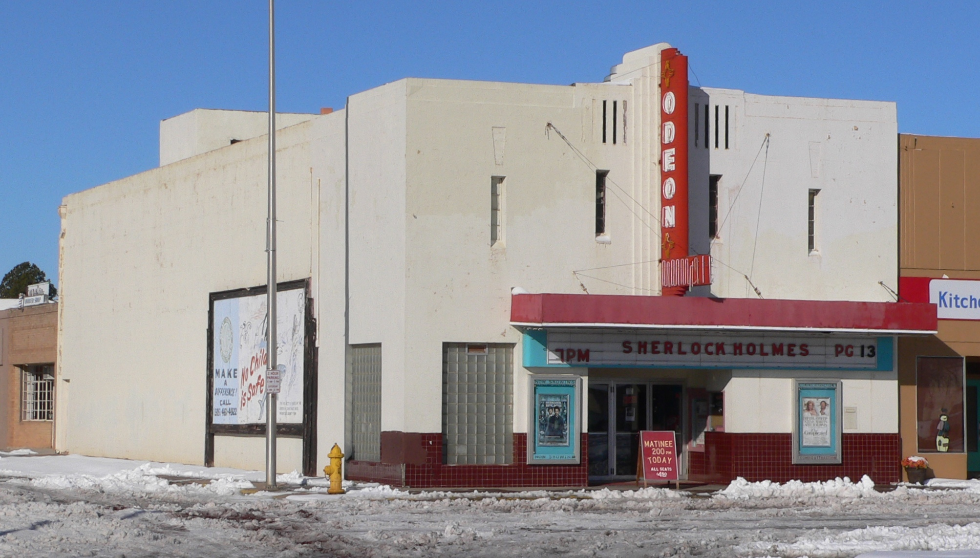 Tucumcari's Odeon Theatre, which received funding in 2015