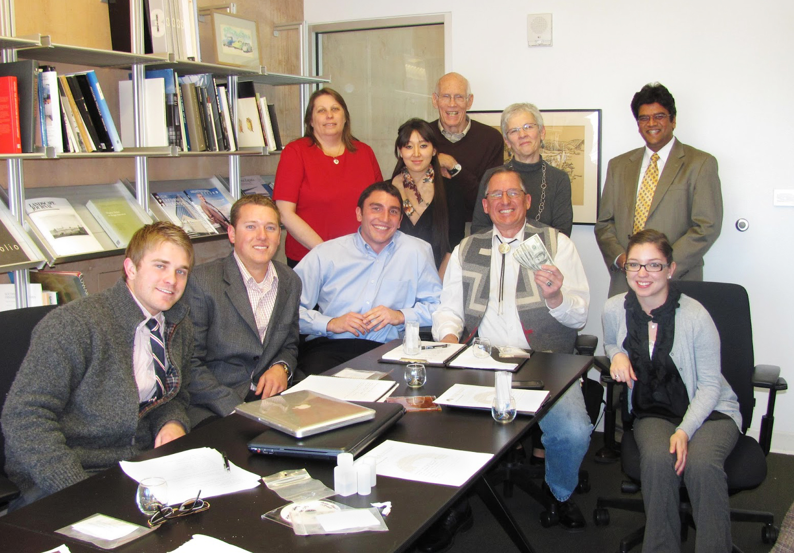SBI client with UNM Anderson students and UNM professor Dr. Raj Mahto; courtesy UNM Anderson School of Management website