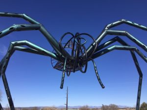 Meow Wolf spider sculpture
