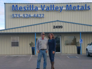Mesilla Valley Metals owners Casey and Chancie Roberts